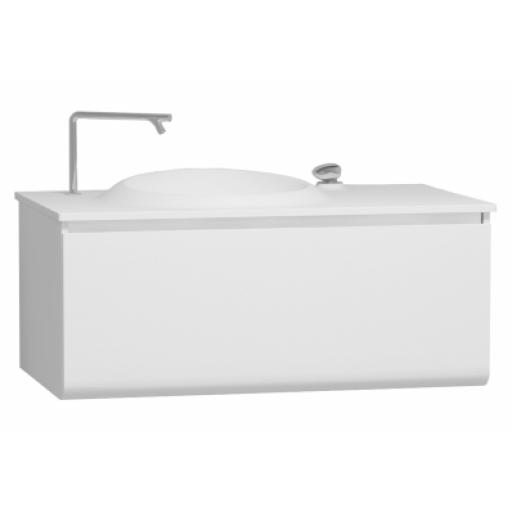 Vitra Istanbul Washbasin Unit, Including Infinit Washbasin, 100 cm, White