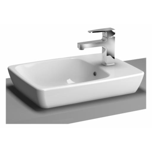 Vitra M-Line Countertop Washbasin, No Overflow Hole, 50x38 cm