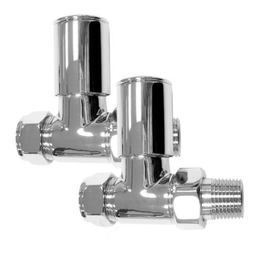 Deluxe Chrome 15mm Straight Radiator Valves