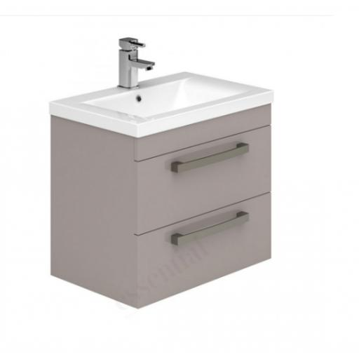 Nevada 800mm Wall Hung 2 Drawer Basin Unit