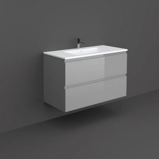 RAK Joy Wall Hung Vanity Unit 100cm Urban Grey
