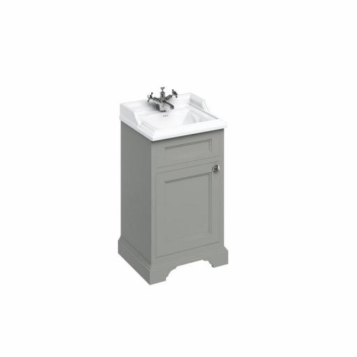 Burlington Freestanding 50cm basin unit with door - Dark Olive