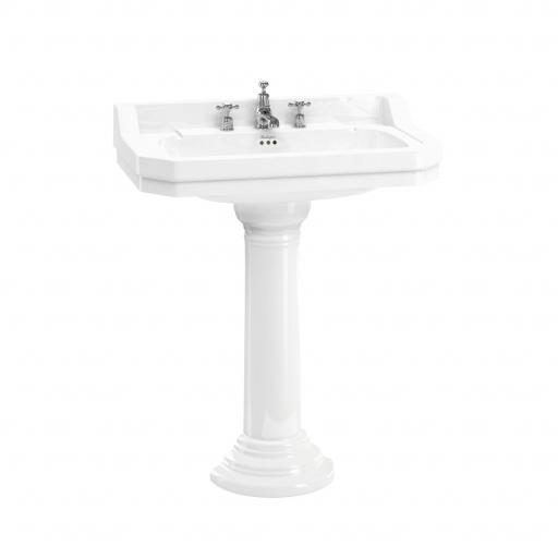 Burlington Edwardian 80cm basin with regal round pedestal