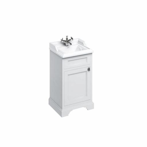 Burlington Freestanding 50cm basin unit with door - Matt White