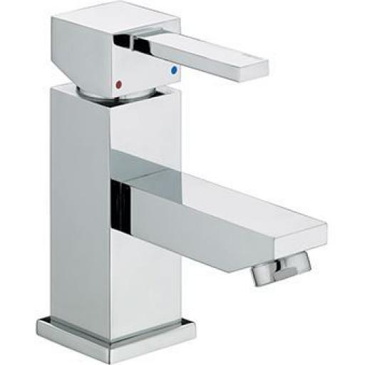 Bristan Quadrato Cloakroom Basin Mixer Without Waste