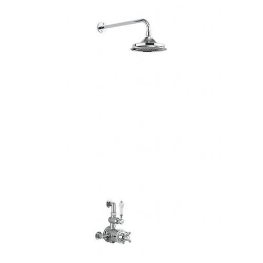 Burlington Avon Thermostatic Exposed Shower Valve Single Outlet with Fixed Shower Arm with 12 inch rose