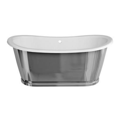 Burlington Balthazar Double Ended Bath - Stainless Steel