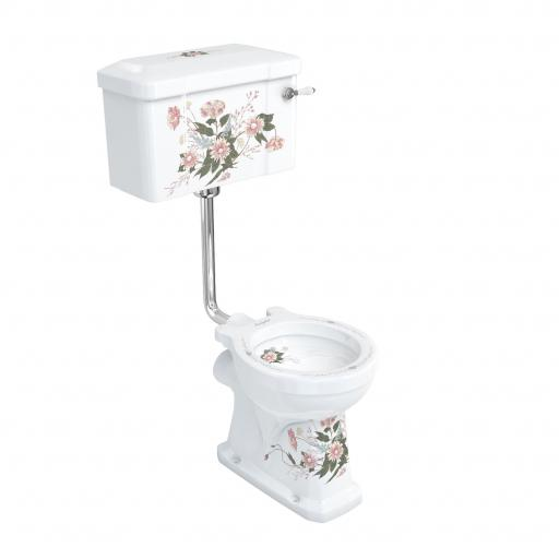 Burlington Standard English Garden low level WC with 520 English Garden lever cistern