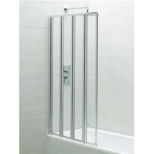 Identiti 4 Panel Bath Screen