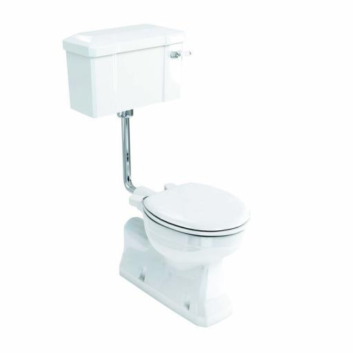 Burlington S trap low level WC with 520 lever cistern