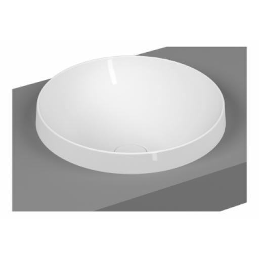 Vitra Frame Round Countertop Washbasin, Matte White