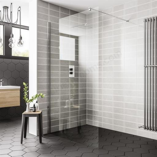 Spring 800mm Wet Room Panel