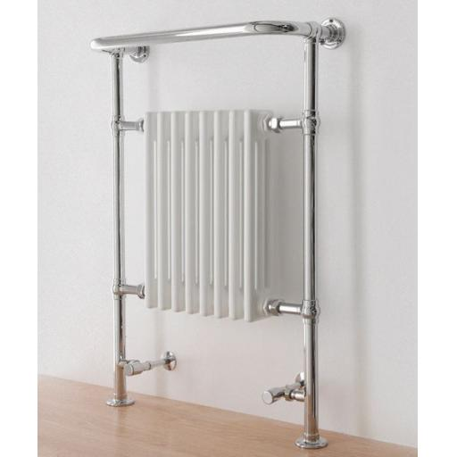 Taurus 600x295mm White/Chrome Towel Radiator