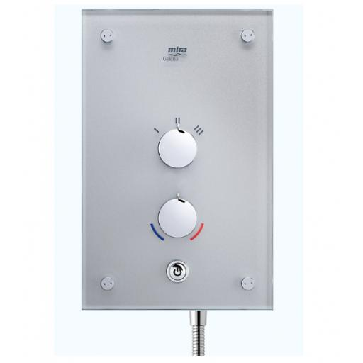 Mira Galena 9.8kW Electric Shower - Silver Glass