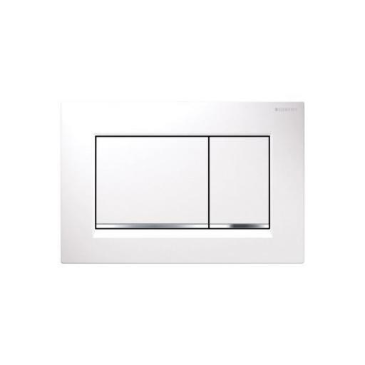Geberit Sigma30 Dual Flush Plate - Wh/Gl Ch/Wh