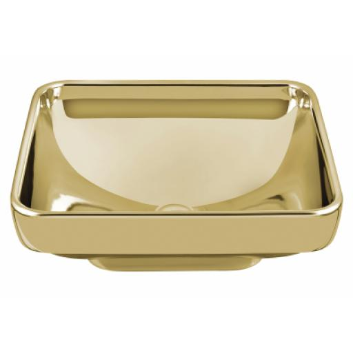 Vitra Water Jewels Square Bowl, 40 cm, Gold