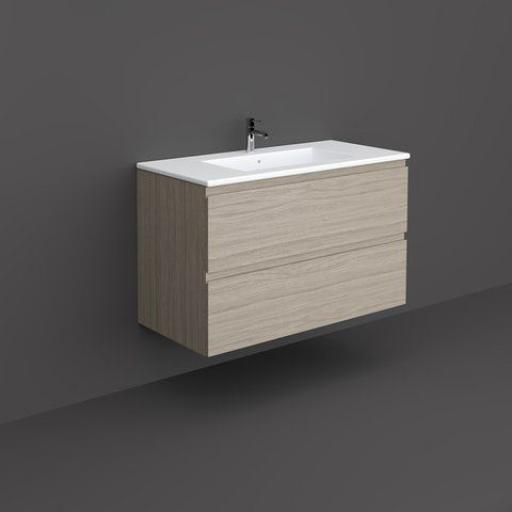RAK Joy Wall Hung Vanity Unit 100cm Grey Elm