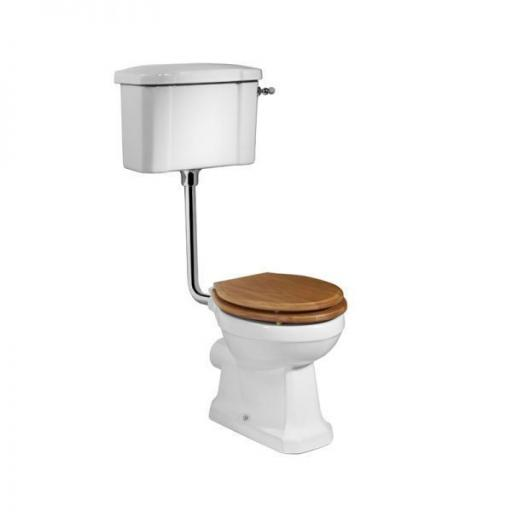 Tavistock Vitoria Low Level WC & Natural Oak Seat