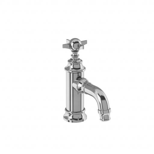 Burlington Arcade Mini single-lever basin mixer without pop up waste - chrome - with tap handle