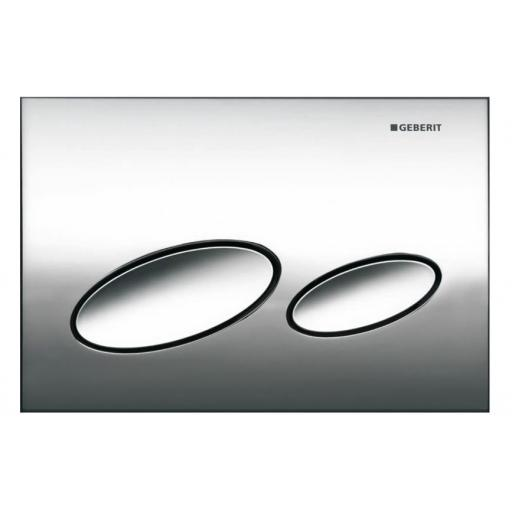 Geberit Kappa20 Dual Flush Plate - Gloss Chrome