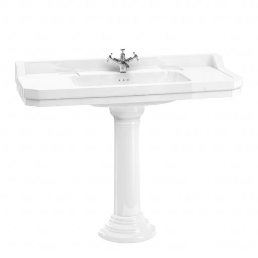 Burlington Edwardian 120 cm basin with regal round pedestal