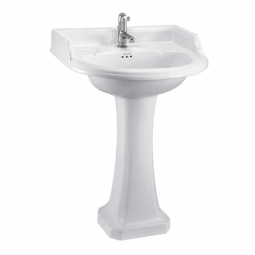 Burlington Classic round 65cm basin and Classic pedestal