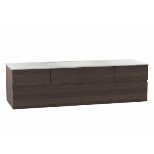 Vitra Memoria Washbasin Unit, Including Ceramic Washbasin, 150 cm, Chestnut