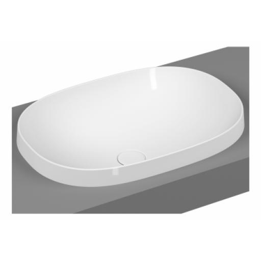 Vitra Frame Oval Countertop Washbasin, Matte White