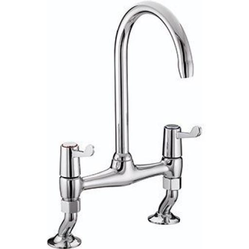 "Bristan Lever Bridge Sink Mixer With 3"" Levers"