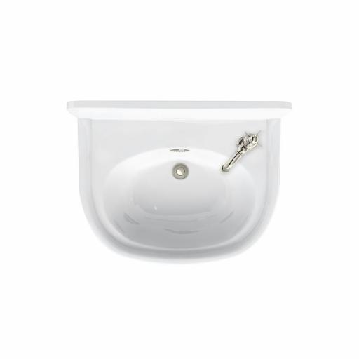 Burlington Arcade 500mm cloakroom basin with nickel overflow