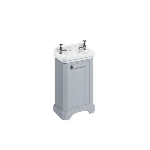 Burlington Cloakroom basin unit with door - Classic Grey