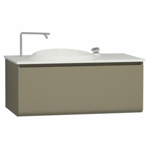 Vitra Istanbul Washbasin Unit, Including Infinit Washbasin, 100 cm, Olive Green