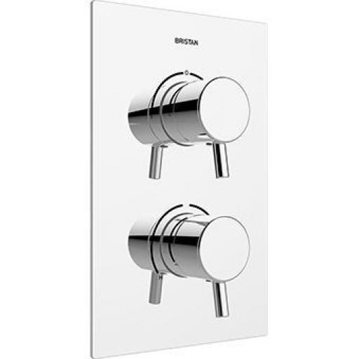 Bristan Prism Thermostatic Recessed Dual Control Shower Valve With Integral Two Outlet Diverter