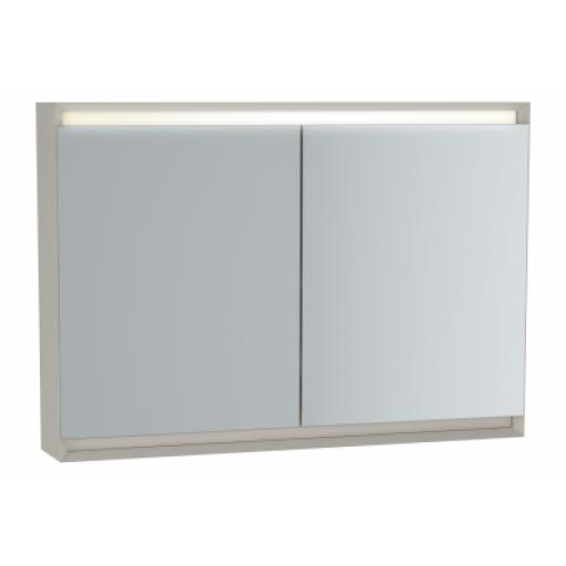 Vitra Frame Mirror Cabinet 100 cm, Matte Taupe