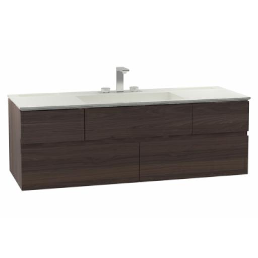 Vitra Memoria Washbasin Unit, Including Infinit Washbasin, 120 cm, Chestnut