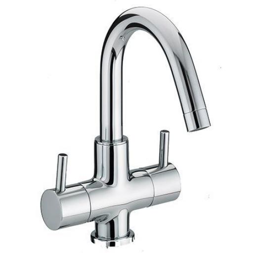 Bristan Prism Twin Handled Basin Mixer Without Waste