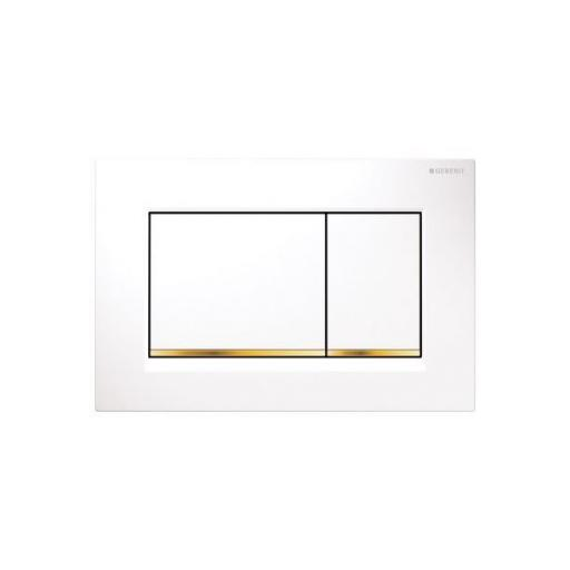 Geberit Sigma30 Dual Flush Plate - Wh/Gold/Wh