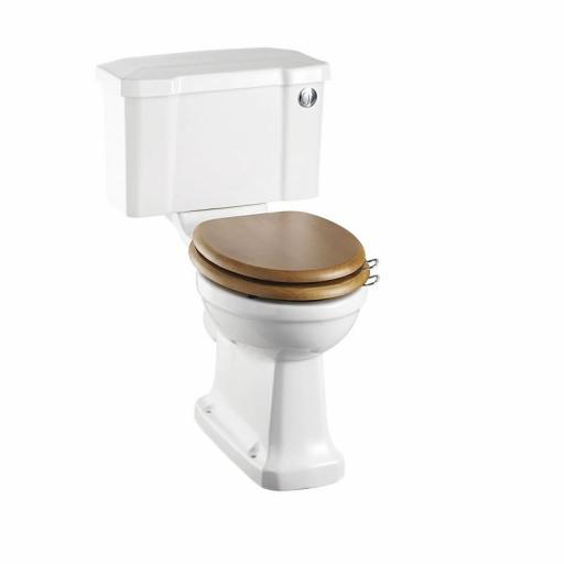 Burlington Rimless close coupled WC with 440 front push button cistern