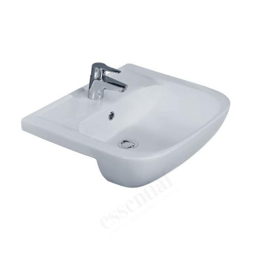 Fuchsia 550mm Semi Recessed 1TH Basin