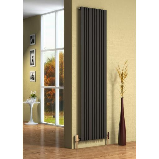 Reina Radiator Vertical Anthracite 1800mm X 324mm