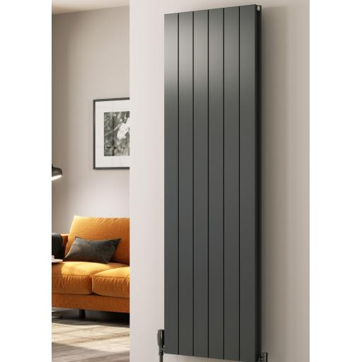 Reina Radiator Casina Brushed Vertical 1800 x 470mm