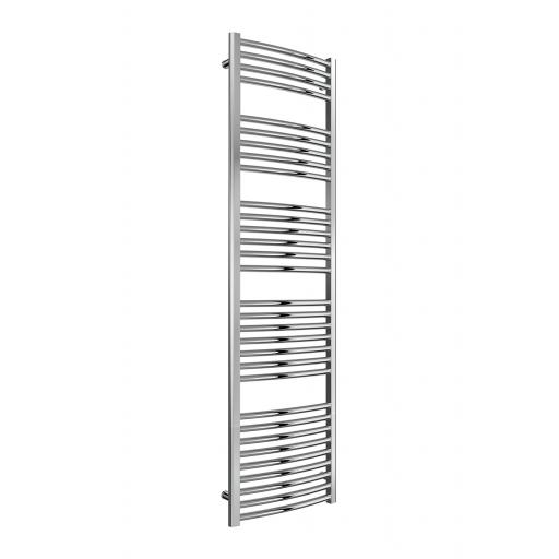 Reina Radiator Diva 600 X 1200 mm Towel Radiator Chrome Curved