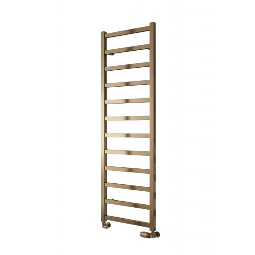 Reina Radiator Fano Aluminium Towel Rail Bronze Satin 1240 x 485mm
