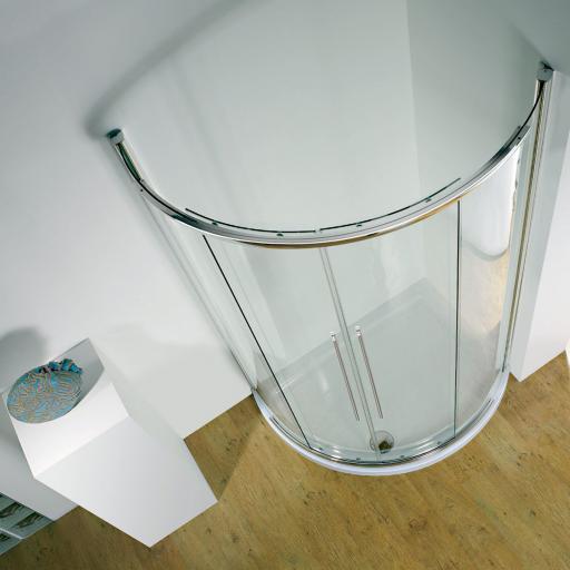 Kudos Original Offset Curved Sliding Door Enclosure 1000 x 810 mm Centre Access