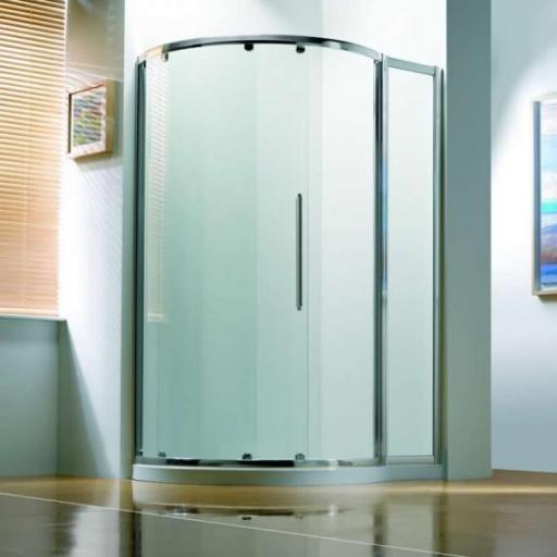 Kudos Original Offset Curved Single Sliding Door Enclosure 1200 X 910 mm