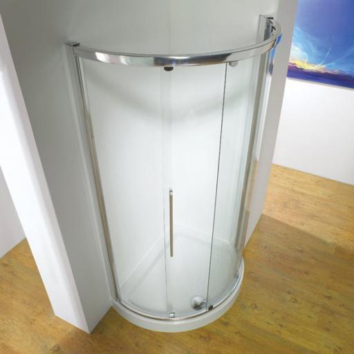 Kudos Original 810mm Curved Corner Single Sliding Door Enclosure