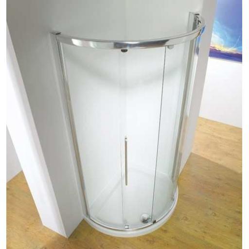 Kudos Original Offset Curved Sliding Door Enclosure 1000 x 810 mm Side Access