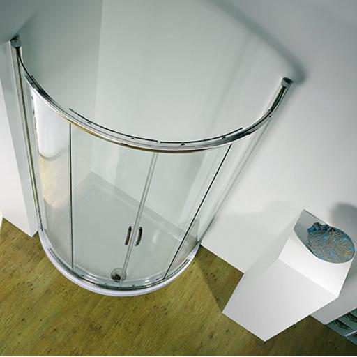 Kudos Infinite Curved With Sliding Door Centre Access 910mm