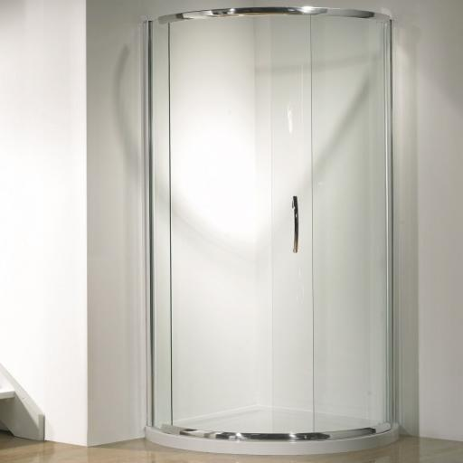 Kudos Infinite Curved With Sliding Door Side Access 1000mm